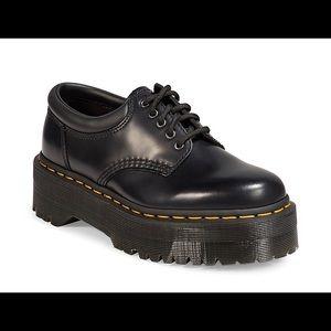 Dr. Martens 1461 Quad Leather Platform Shoes. US WOMEN 9 / US MEN 8